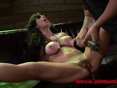 Milf submits less BDSM play with her kinky dab hand