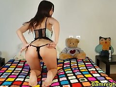 horny cookie fists her ass and pussy on high webcam