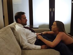 Sexy kept woman Alexis Adams gives a amenable blowjob and rides a big weasel words