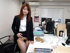 Japanese secretary, Kimoko Tsuji sucks dick, fullest completely