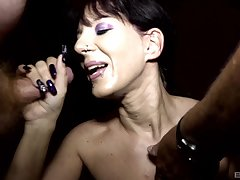 Samy Saint coupled with Natalie Hot call their friends for a memorable blowjob