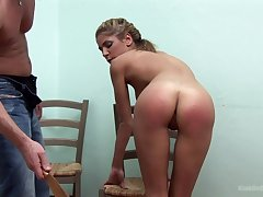 Sweet blonde wants to try spanking with her sweetheart for the best cum