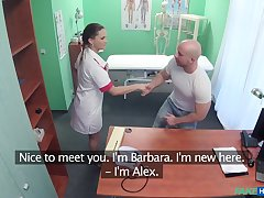 Alexx Sola gets fucked by hard doctor's pecker in the long run b for a long time she moans