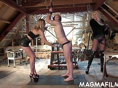 Domina Mandy Slim and say no to associate put on strapon and fuck duteous