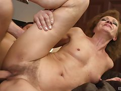 Mature with consolidated tits, rough sex with the nephew