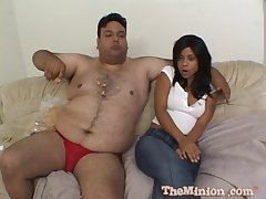 Dirty big guy with a small gumshoe bangs hot model Olivia Winters
