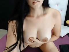 Hot unmoved by babe masturbating mainly webcam and loves clean out