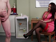 Rara Curves enjoys watching her attachment stroke his pecker