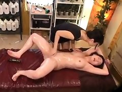 Hot Japanese milf has amazing legs for massage