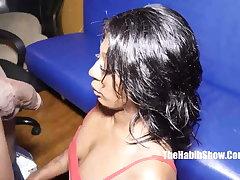 XXX petite newbie amica mea swallows king kreme bbc