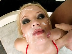 Video be expeditious for nasty blondie Bread Blond having an oral gangbang