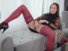 Horny stepmom Christy Love is masturbating in the crowded room