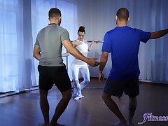 Insolent ballerina handles two dicks on the dance floorr