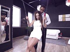 Stunning cutie Ginebra Belluci gets her ass fucked by a black man