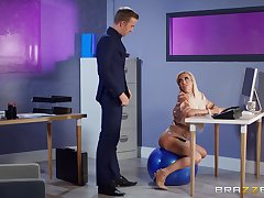Energized MILF gets intimate at the office