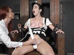 Kendra James and Serena Blair Interrogated - Lesdom Porn