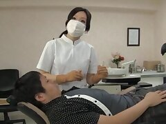 Naughty Japanese dentist enjoys having sex with say no to lucky purchaser