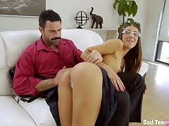 Amazing babe Tara Ashley gets her hands on a friend's big dick