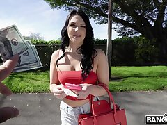 Sexy amateur mollycoddle Natana Brooke takes money to have a quickie