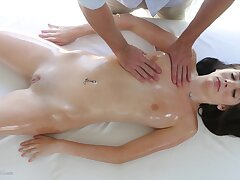Sensual massage leads atop touching fucking atop the gaming-table - Bella Skye