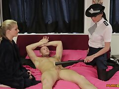 CFNM video of FFM threesome with Cayenne Klein and Franki Commuter