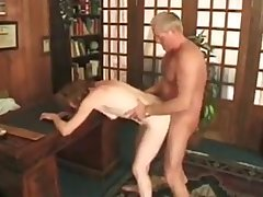 Granny fucked by younger Guy